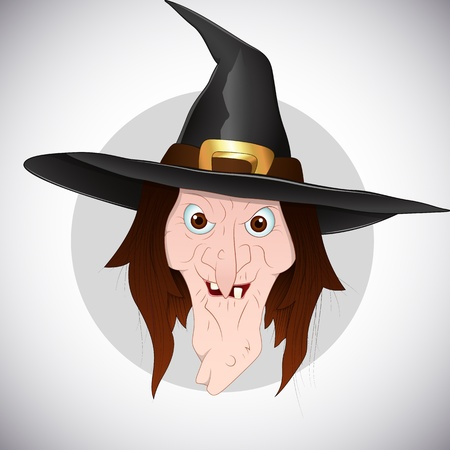 Witch Face Vector Vector