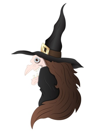 Spooky Witch Vector