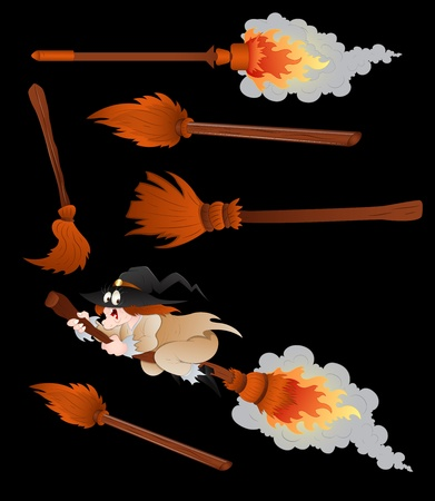 broomsticks: Witches Broomsticks Vector