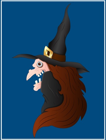 Scary Witch Vector