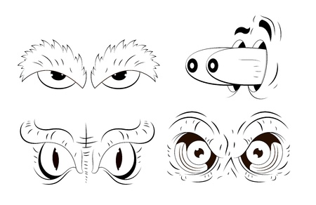 Cartoon Eyes Drawing Stock Vector - 13307820