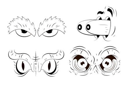 Cartoon Eyes Drawing Stock Vector - 13307820