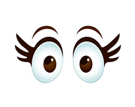 crazy: Cartoon Female Eye