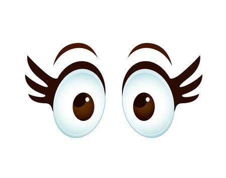 Mujer de ojos de dibujos animados Ilustración de vector