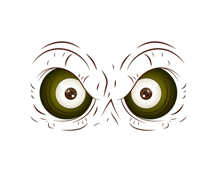 Cartoon Owl Eye Vector