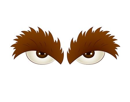 Illustration of Cartoon Eye Vector