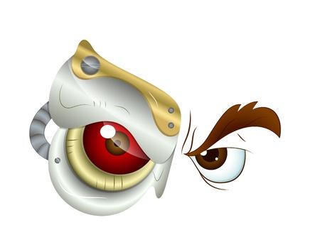 Cartoon Evil Eye Vector