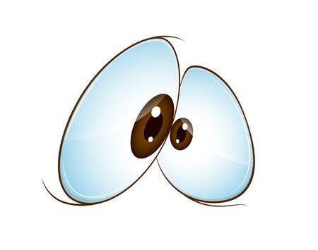 caricaturas de personas: Ojo divertido de la historieta Vectores