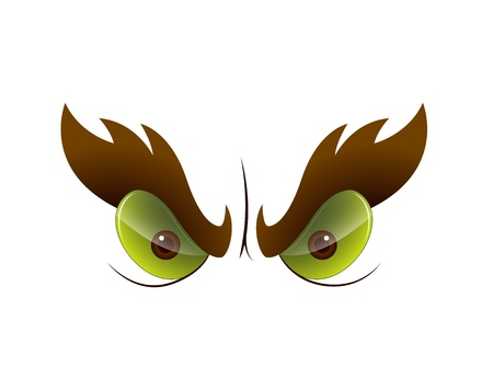 Angry Cartoon Eye Vector