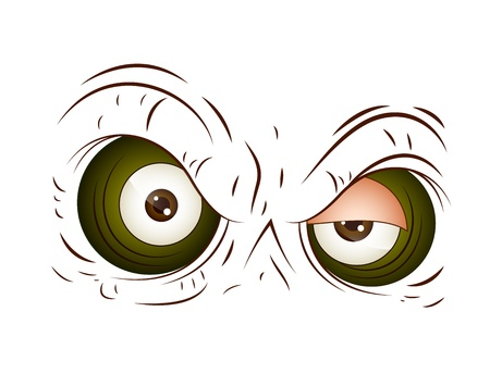 Angry Cartoon Eye Vector Vector
