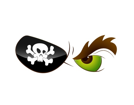 Cartoon Pirate Eye Vector