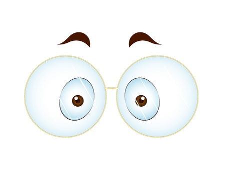 Surprised Eye with Glasses Vector