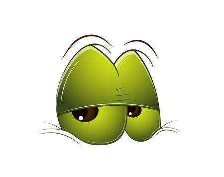 ojos anime: Ojos cansados ??de dibujos animados Vectores