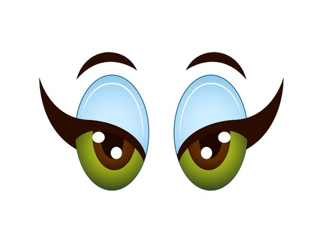 Cartoon Girl Eye Vector
