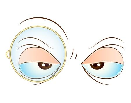 women face stare: Vector Eye Expression