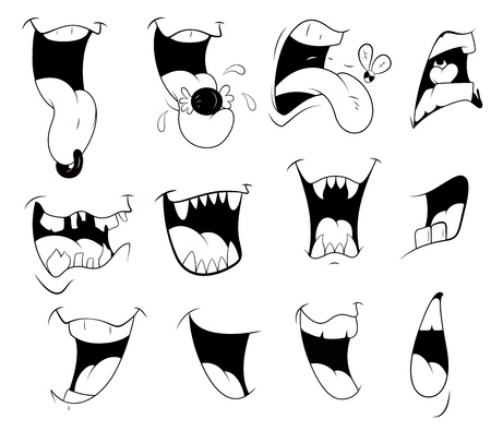 mouth to mouth: Cartoon Mouths