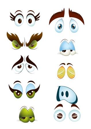 caricaturas de personas: Ojos de dibujos animados Juego