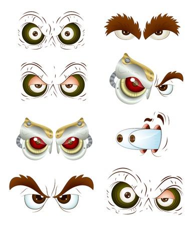 alien clipart: Eyes