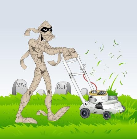 Gardener Mummy Vector