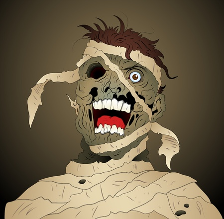 Scary Mummy Vector