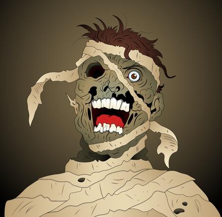 Scary Mummy Illustration