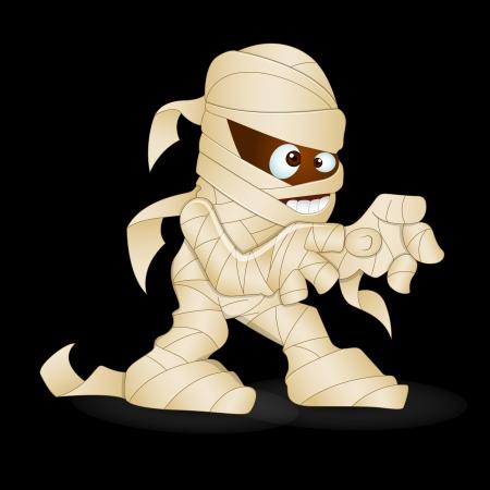 egyptian mummy: Cute Mummy Vector Illustration