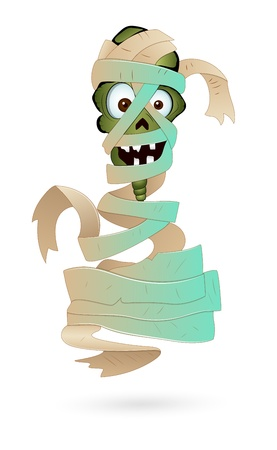 Illustration of Scary Mummy Vector