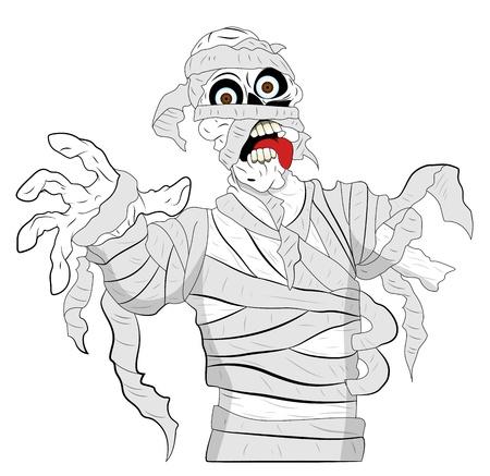 Spooky Mummy Vector Stock Vector - 13307891