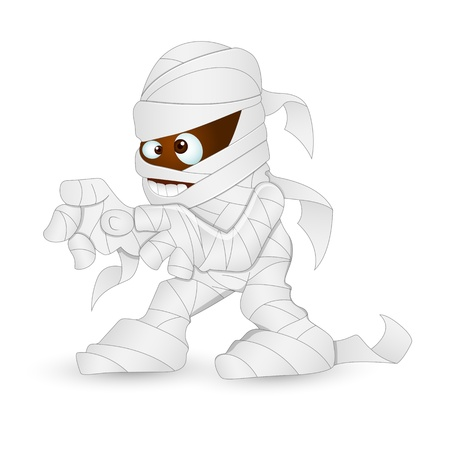 Cute Cartoon Mummy Vector