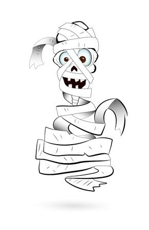 Art of Spooky Mummy Vector