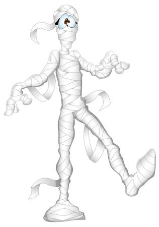 casket: Funny Mummy Illustration