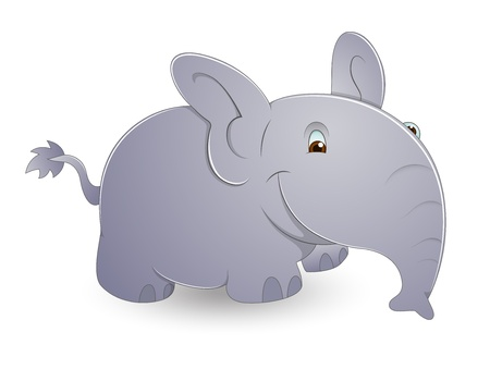 Cute Cartoon Elephant Vector