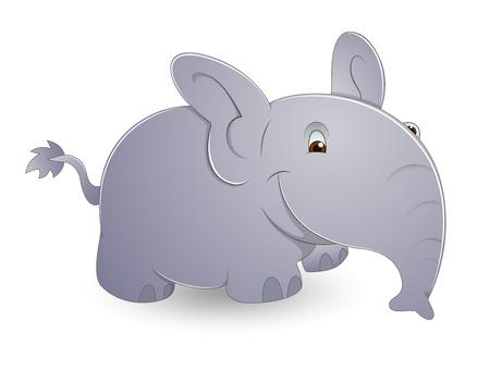 Cute Cartoon Elephant Stock Vector - 13358188