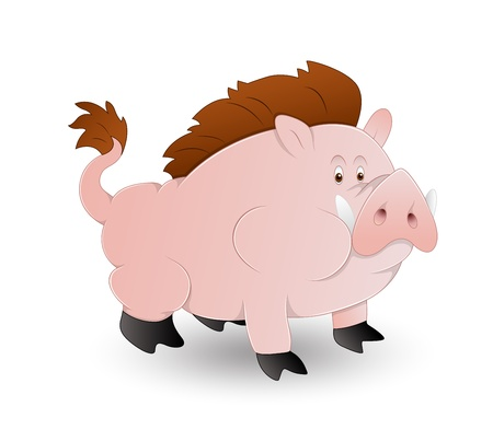 Cartoon Pig Vector