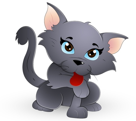whisker characters: Lindo gato Vectores