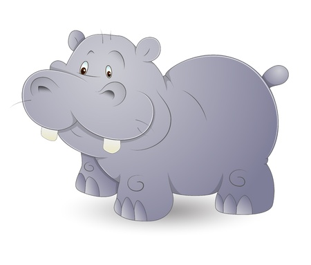 Cute Hippo Stock Vector - 13358192