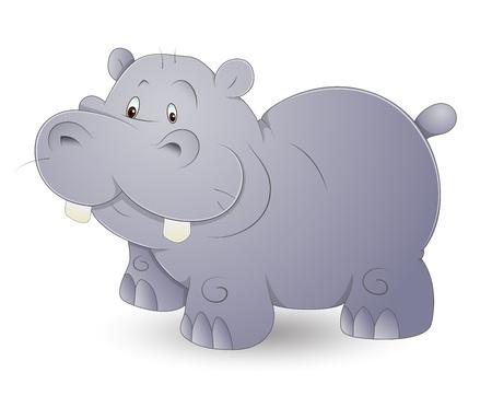 Cute Hippo Stock Vector - 13358192