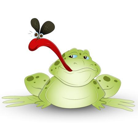 beast creature: Cartoon Frog