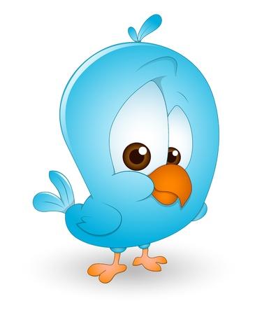 Cute Baby Bird Illustration