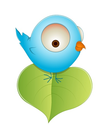 Cute Cartoon Baby Bird Vector