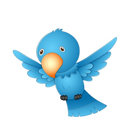 Flying Cartoon Bird Stock Vector - 13358121