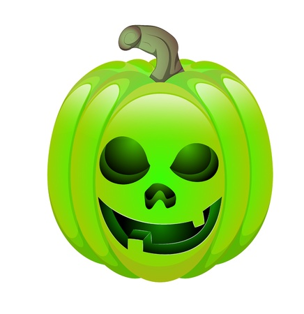 Illustration of Evil Jack O Lantern Vector