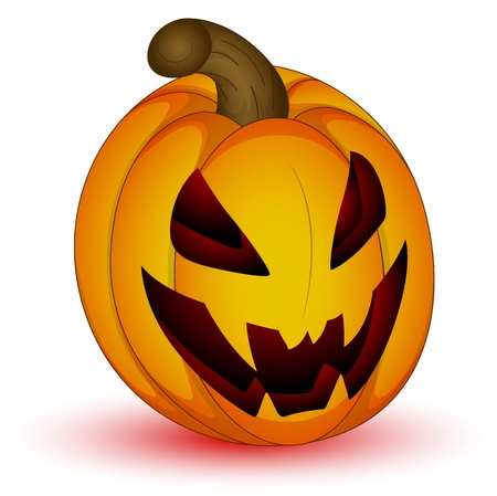 Scary Halloween Jack O Lantern Vector