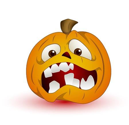 pumpkin halloween: Cartoon Halloween Pumpkin Vector Illustration