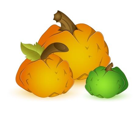 Set of pumpkins Stock Vector - 13430897