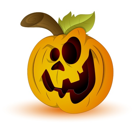 Vector Illustration of Scary Jack O Lantern Vector