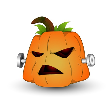 Illustration of Spooky Jack O Lantern Vector