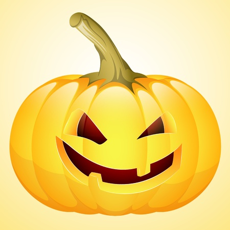 Art of Spooky Halloween Pumpkin Vector