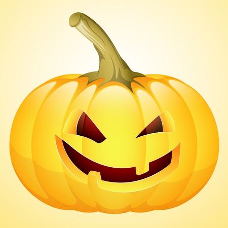 Art of Spooky Halloween Pumpkin Vector