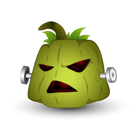 Art of Scary Halloween Pumpkin Vector